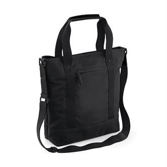Black vintage tote bag