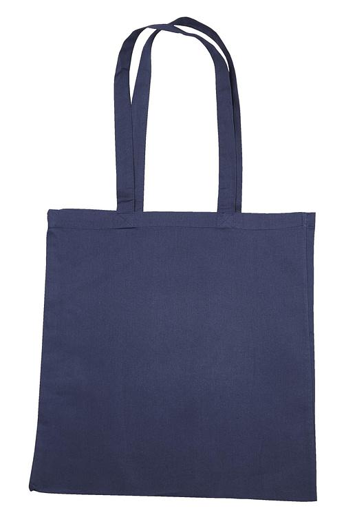 Navy Blue Jute Cotton Shopper Bag
