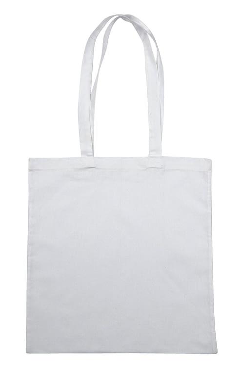 White Jute Canvas Cotton Shopper Bag