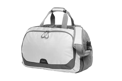 STEP White and Grey Sports Travel Bag