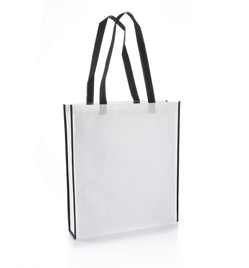 Virginia Black Non Woven Tote bag