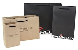Luxury Paper Bag in brown or white kraft paper.