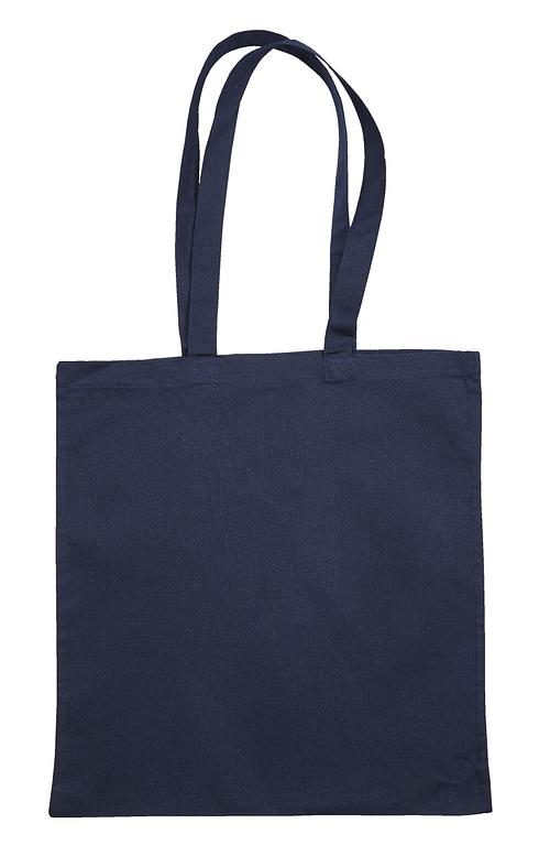 Navy Blue Jute Canvas Cotton Shopper Bags