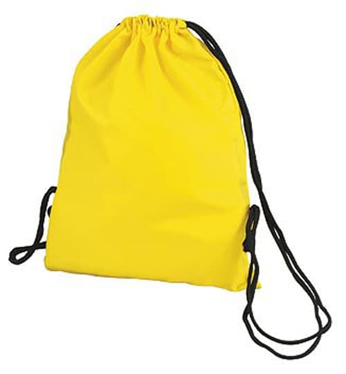Yellow Taffeta Backpack Sport