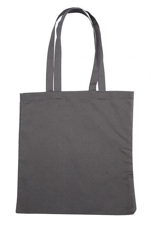 Grey Jute Canvas Cotton Shopper Bag