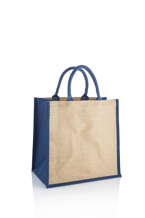 Blue Brecon Jute Bag - High Quality