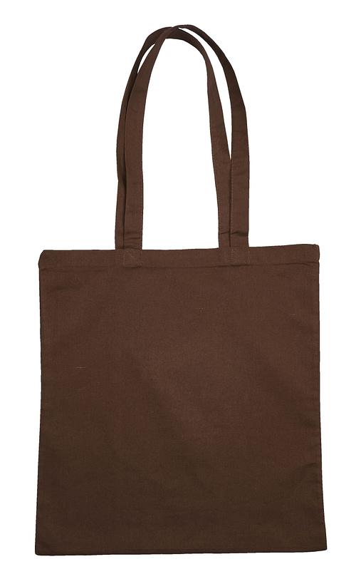 Brown Jute Canvas Cotton Shopper Bag