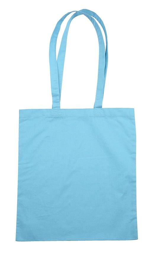 Baby Blue Jute Canvas Cotton Shopper Bag