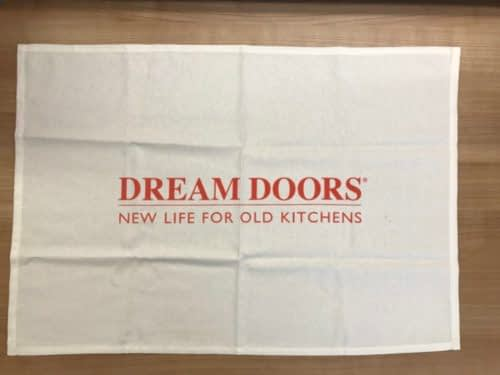 White Dream Doors Tea Towel