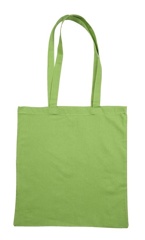 Lime Green Jute Cotton Shopper Bag