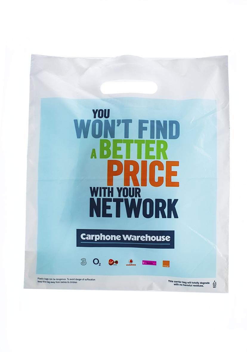 Bespoke Carphone Warehouse Patch Handle Carrier Bag