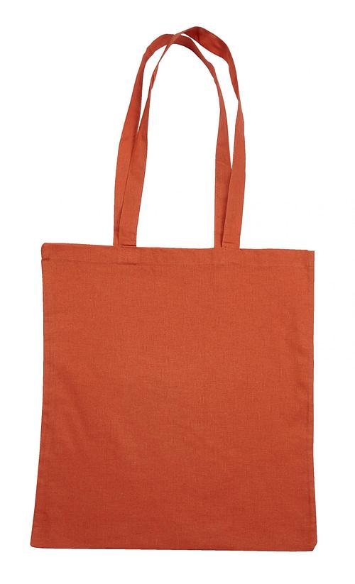 Orange Jute Canvas Cotton Shopper Bag