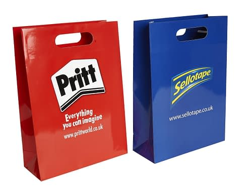 Pritt and Sellotape Branded Laminated Carrier Bags