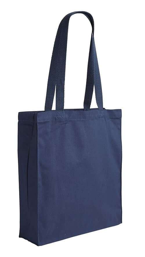 Illustrious Blue Canvas Shopper Bag