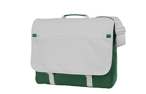 Dark Green and White CONGRESS Shoulder Bag