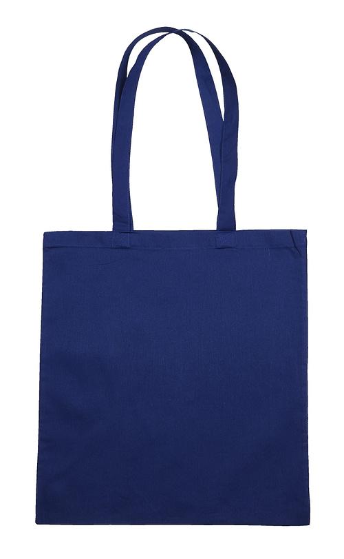 Blue Jute Canvas Cotton Shopper Bag