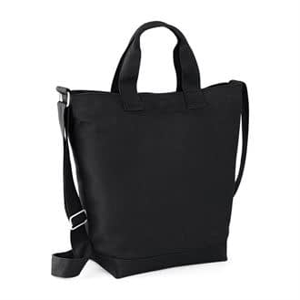 Black canvas day bag