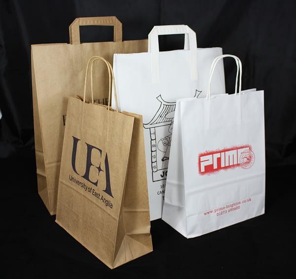Bespoke Tape Handle Kraft Bags