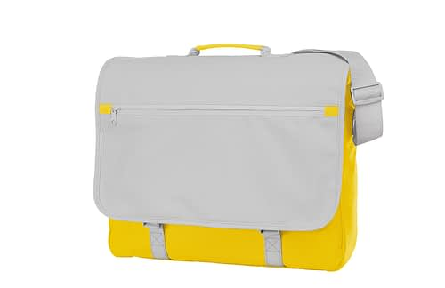 Yellow and White CONGRESS Shoulder Bag