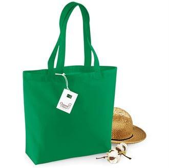 Green Organic Cotton Shopper Bag