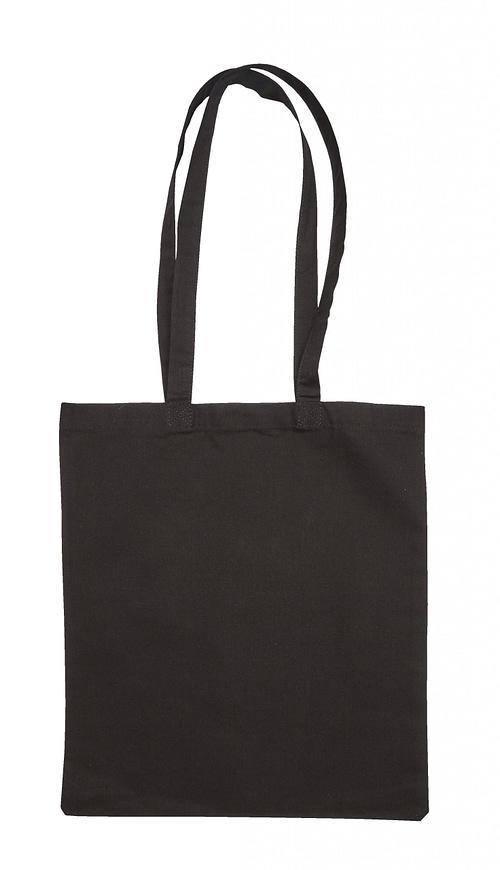 Black Jute Canvas Cotton Shopper Bag