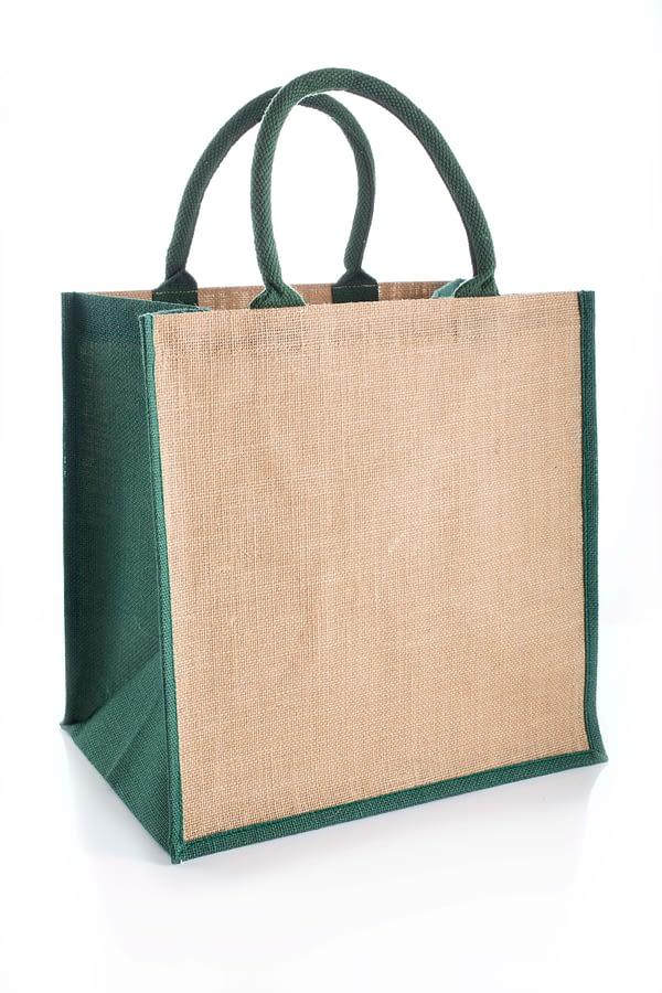 Green Brecon Jute Bag