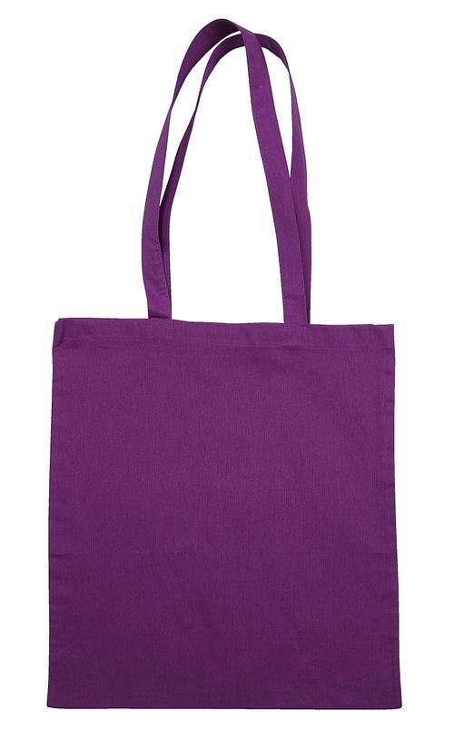 Purple Jute Canvas Cotton Shopper Bag