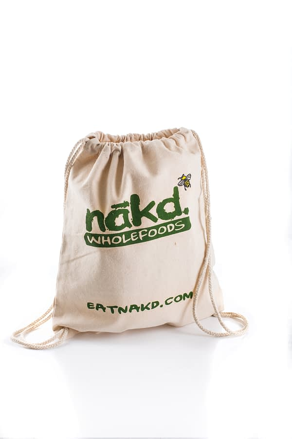 Nakd Wholefoods Custom Cotton Drawstring Bag